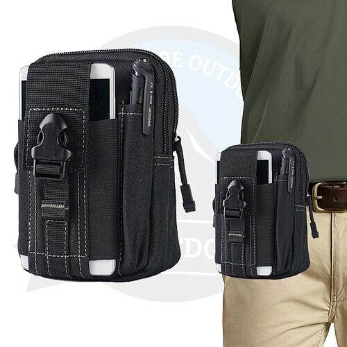 [LOCAL DELIVERY] TACTICAL POUCH - MULTIFUNCTION TACTICAL LARGE CAPACITY POUCH - MIDNIGHT BLACK
