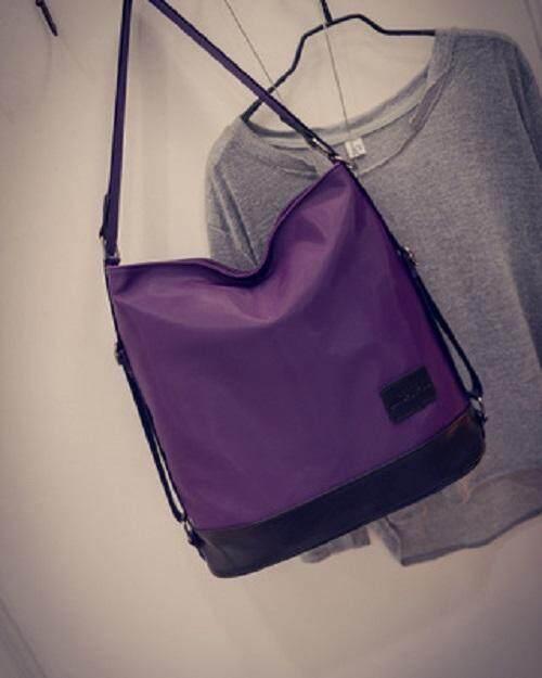 [PRE-ORDER] Women Simple Nylon Sling Bag Crosbody Backpack