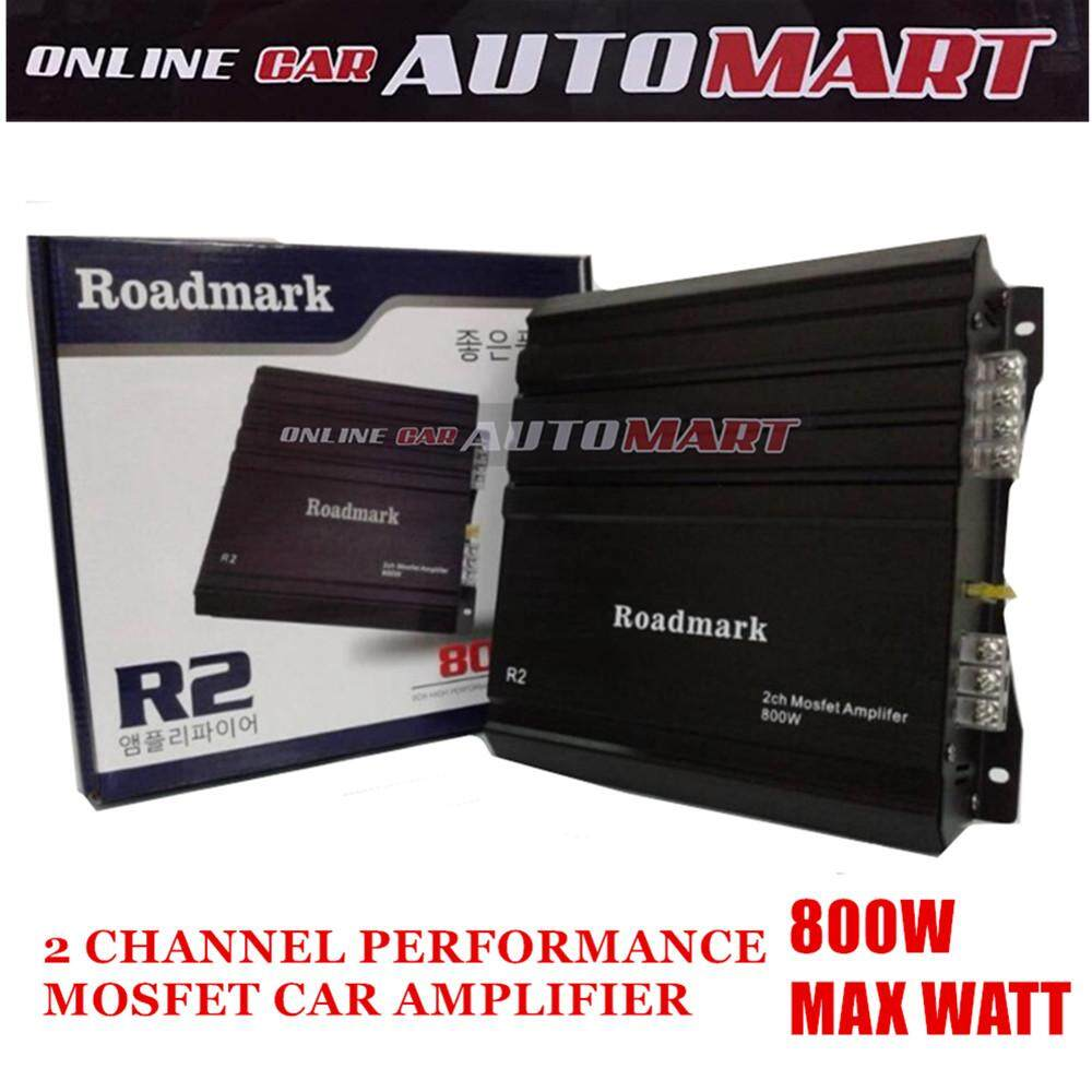 Roadmark R2 2 Channel High Performance Mosfet Car Amplifier 800 Max Watt