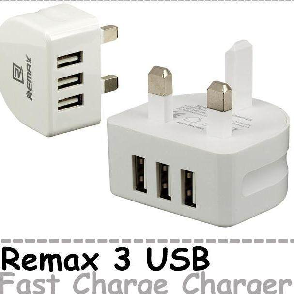 Remax Moon Series 3 USB Wall Charger Phone Charger Fast Charge Adapter
