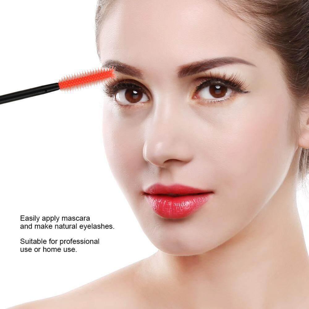 Sikat Silikon Sisir Sekali Pakai Mascara Aplikator Makeup Bulat- Internasional