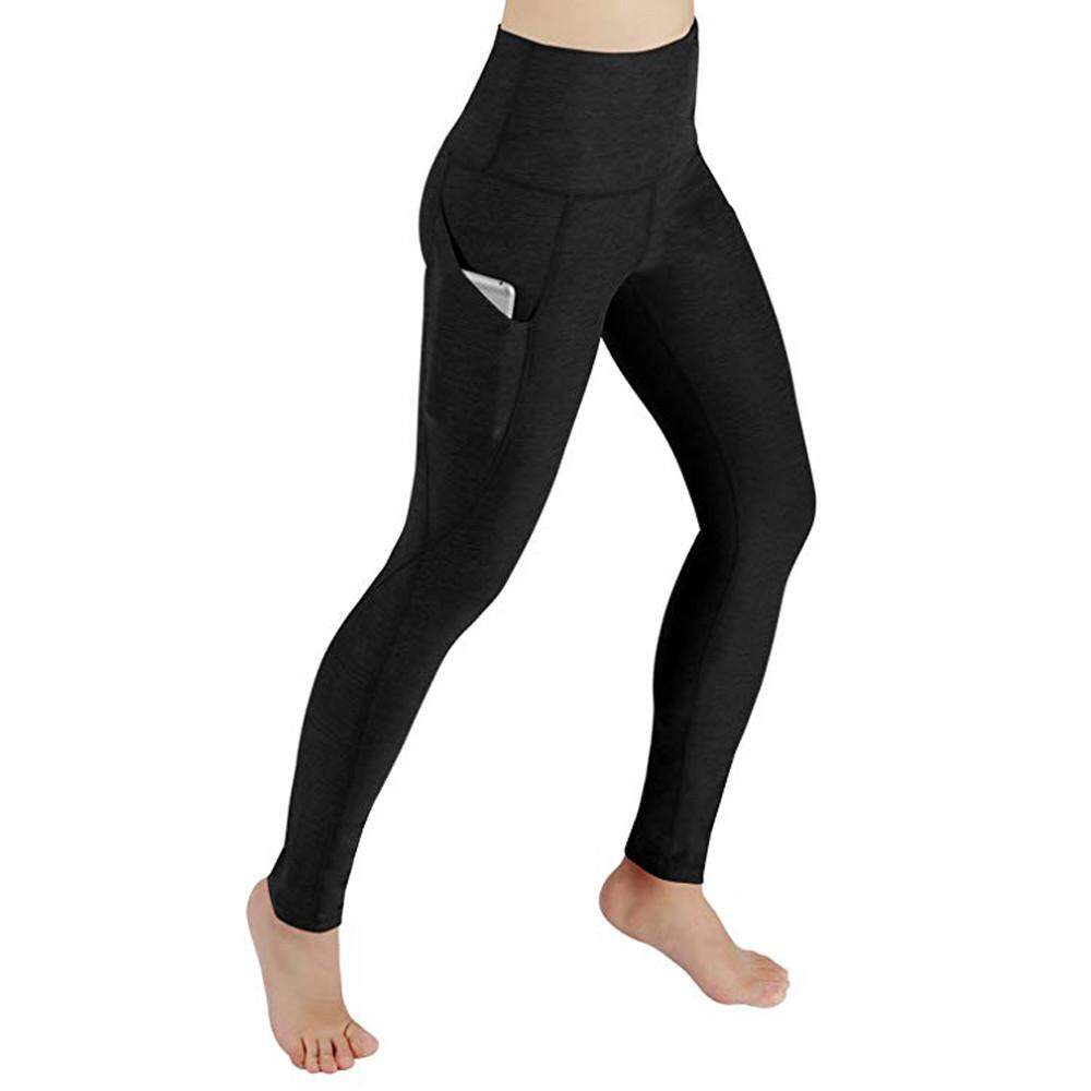 25be584e01 Women Workout Out Pocket Leggings Fitness Sports Gym Running Yoga Athletic  Pants