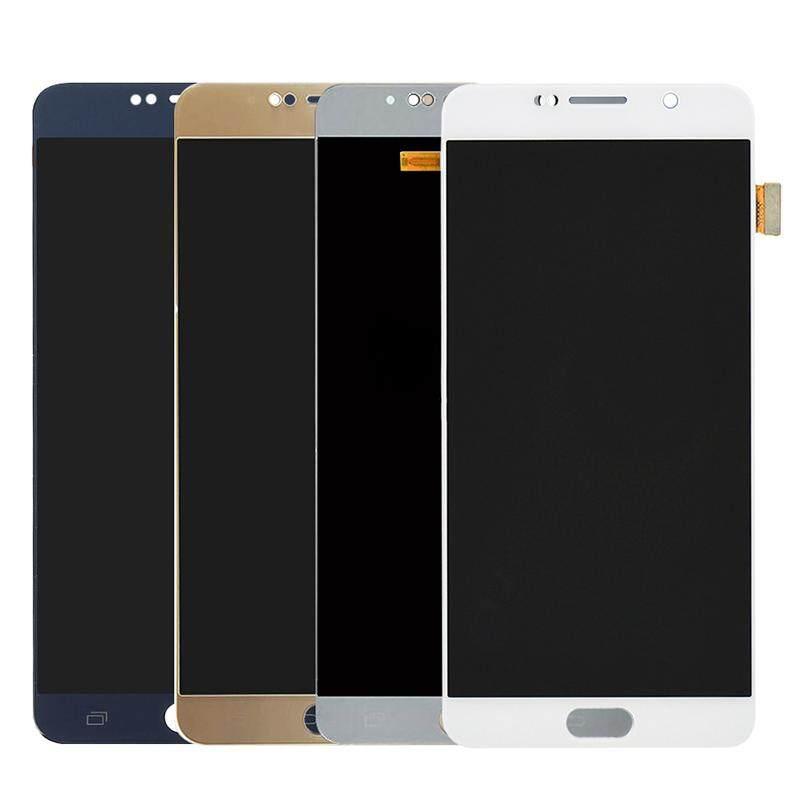Asli 5.7 Inci Super AMOLED untuk Samsung Galaxy Note 5 Layar LCD + Layar Sentuh Digitzer N9200 N920F N920A N920T N920C N920V