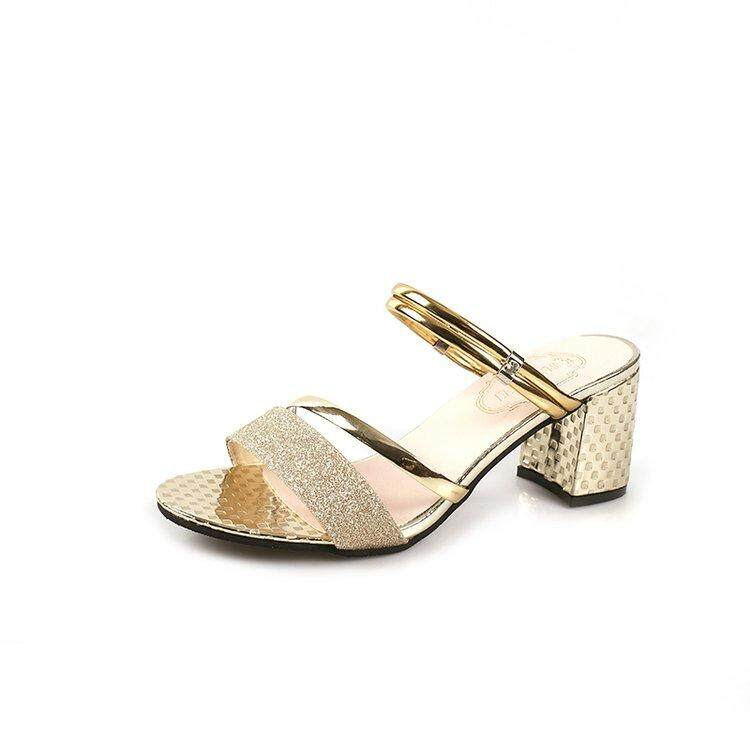 Summer Women Rhinestone Wedges Sandals Slingbacks Open Toe Woman Sandals Shoes Cut Out Heel Flowers Ladies Party Shoes By Anron C.