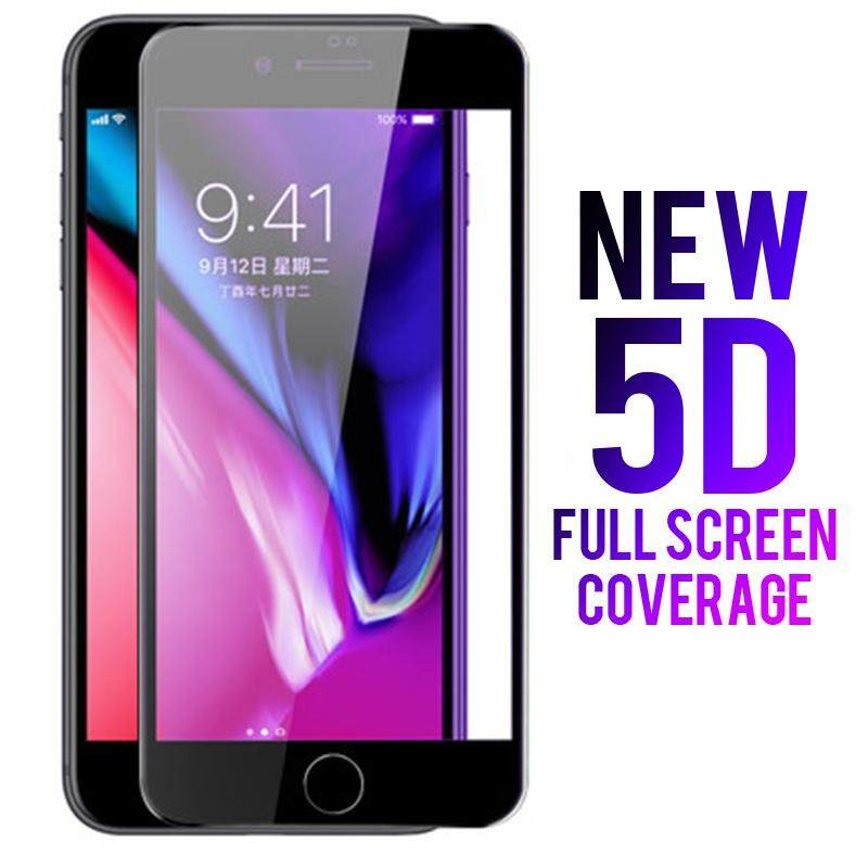 Fitur White Color 5d New Full Cover Tempered Glass For Iphone 6 6s 7
