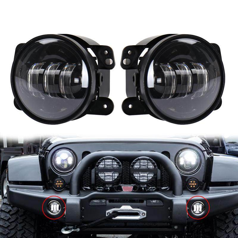 Ge 1 Pair 4 inch 30W LED Fog Light Lamp Modified LED Headlamp for Off Road