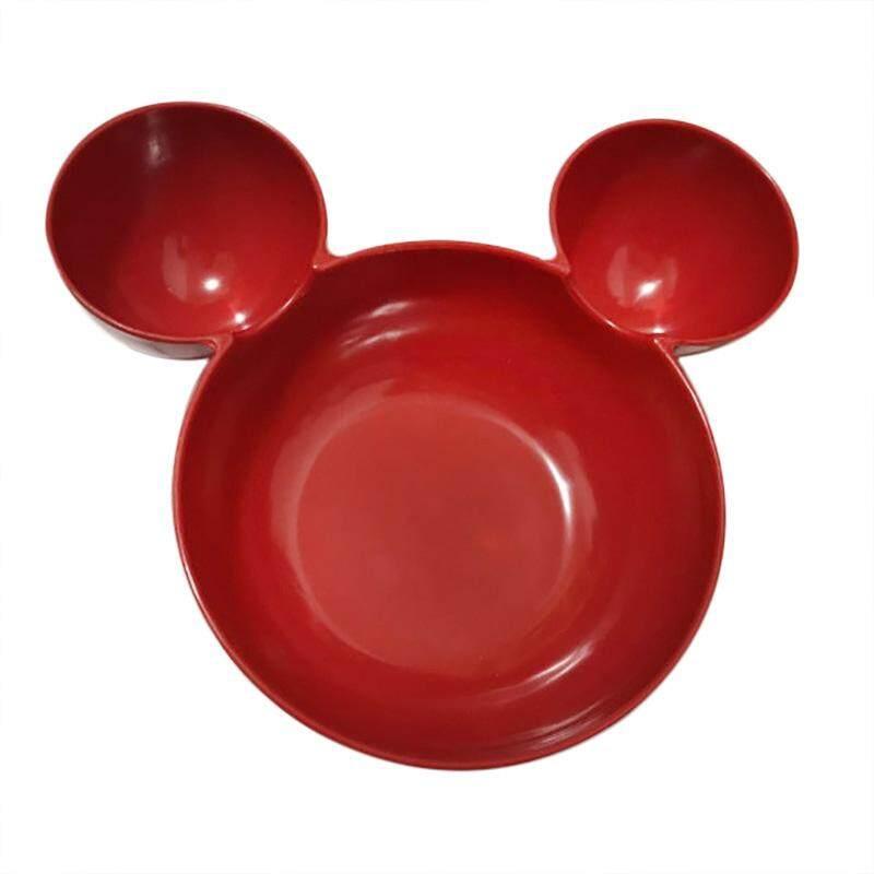 SA YANYI Children Tableware Cute Mickey Mouse Head Shape Bowl Cartoon Lattice Plate Dish Diameter