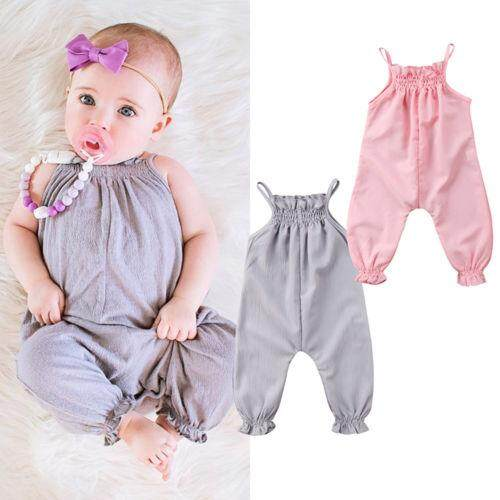 d682fbe10a38 Toddler Baby Girl Clothes Strap One-Pieces Romper Jumpsuit Playsuit Outfit  0-24M
