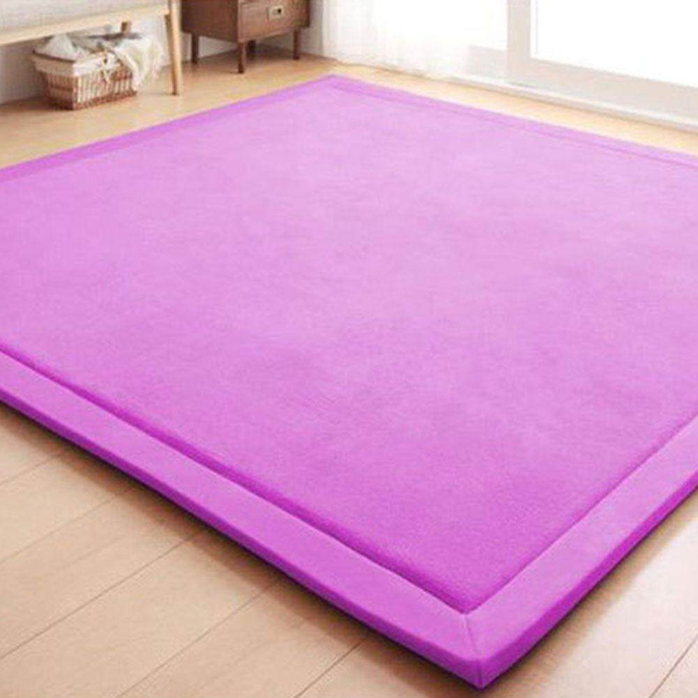 LumiParty 80X200CM Coral Fleece Carpet Kids Game Mat Play Crawling Gym Blanket Floor Rug Decoration