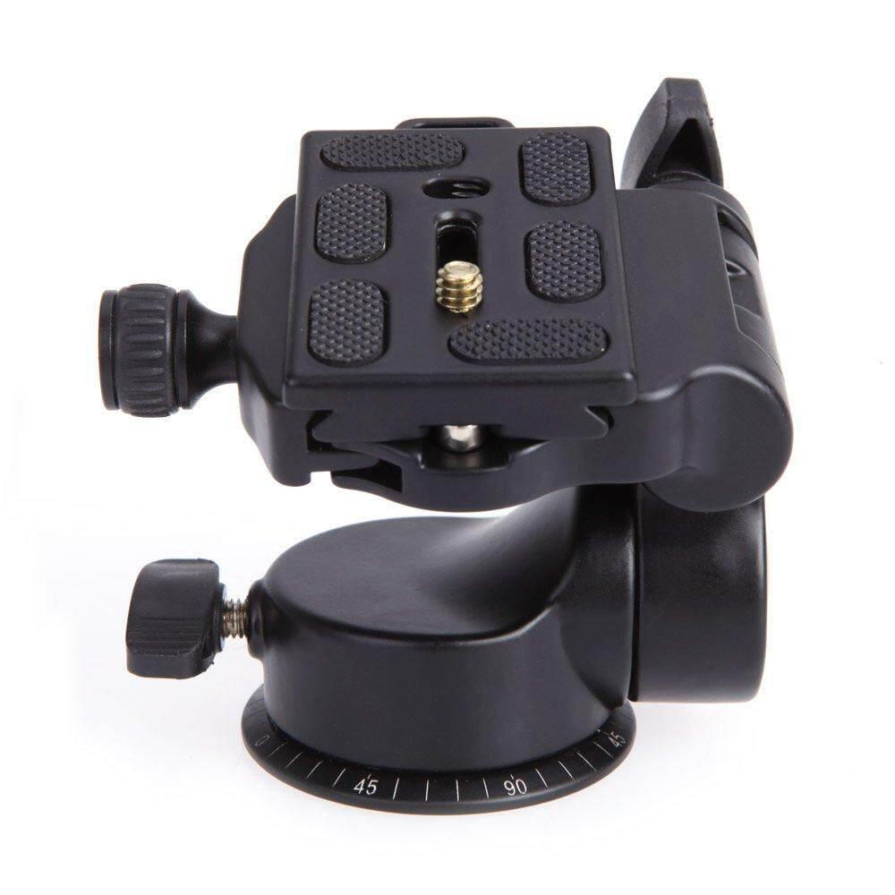 QZSD Q08 Video Tripod Ball Head 3-way Fluid Head with Quick Release Plate for DSLR Camera Tripod Monopod - intl