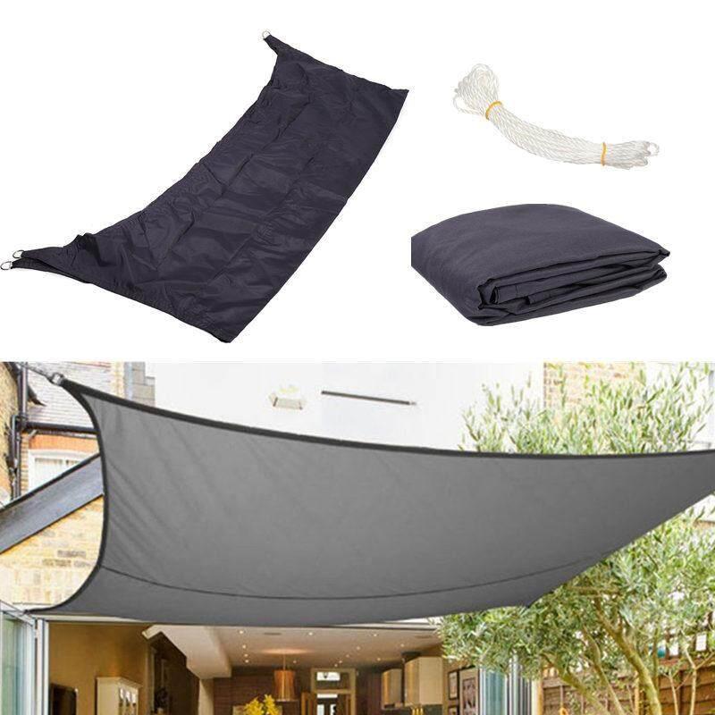 3m x 2m Sun Shade Sail Garden Canopy Awning Screen 98% UV Block Anthracite