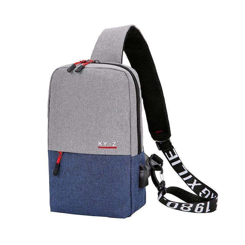 89da1923c7 2018 strap USB charging men s multi-function shoulder bag men s leisure  travel chest bag