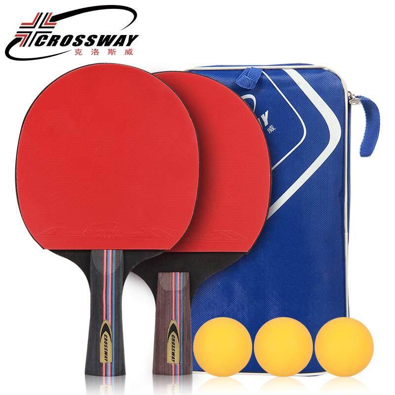 Original Rubber Table Tennis Racket Straight Griplong Handlewith 3 Balls Ball Bag