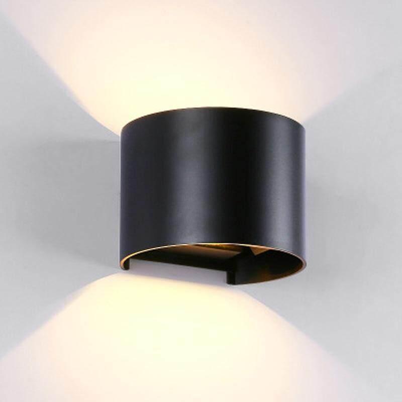 6 W Cahaya Putih Hangat Aluminium Bisa Diredupkan Shell COB Dinding LED CAHAYA setengah Lingkaran Bentuk Kolam dan Dekorasi Dalam Ruangan Lampu untuk Ruang Keluarga, Kamar Tidur, Lorong, Hotel AC 85-265 V