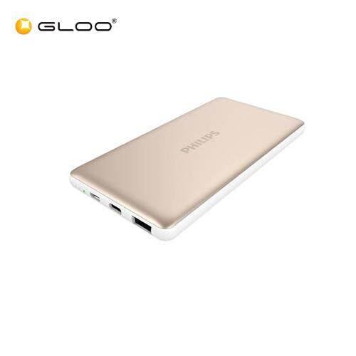 Philips Powerbank 10,000mAh Li-Polymer, 1 Type C 3A + 1 USB QC3.0 - Gold - 4895185633121