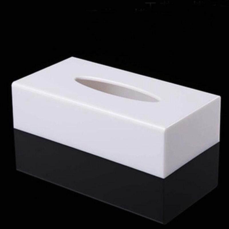 Modern creative home hotel acrylic rectangular rectangular removable tissue box towel rack