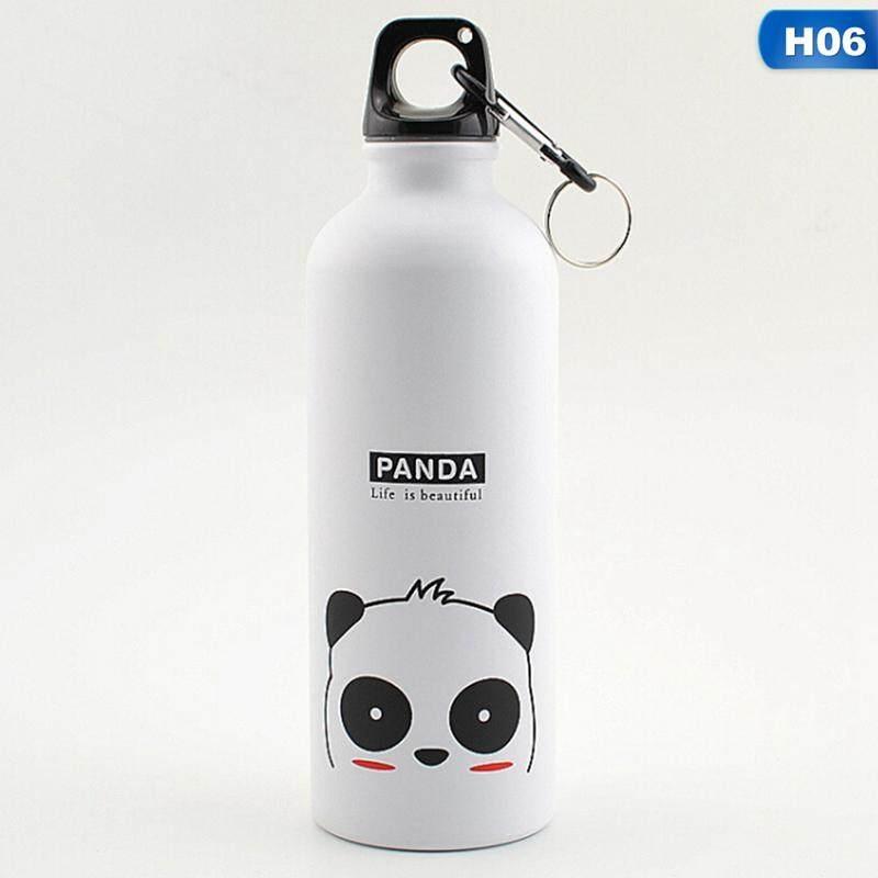 Kuhong Fashion Lucu Kartun Hewan Keluarga Aluminium Botol Olahraga H06-Intl
