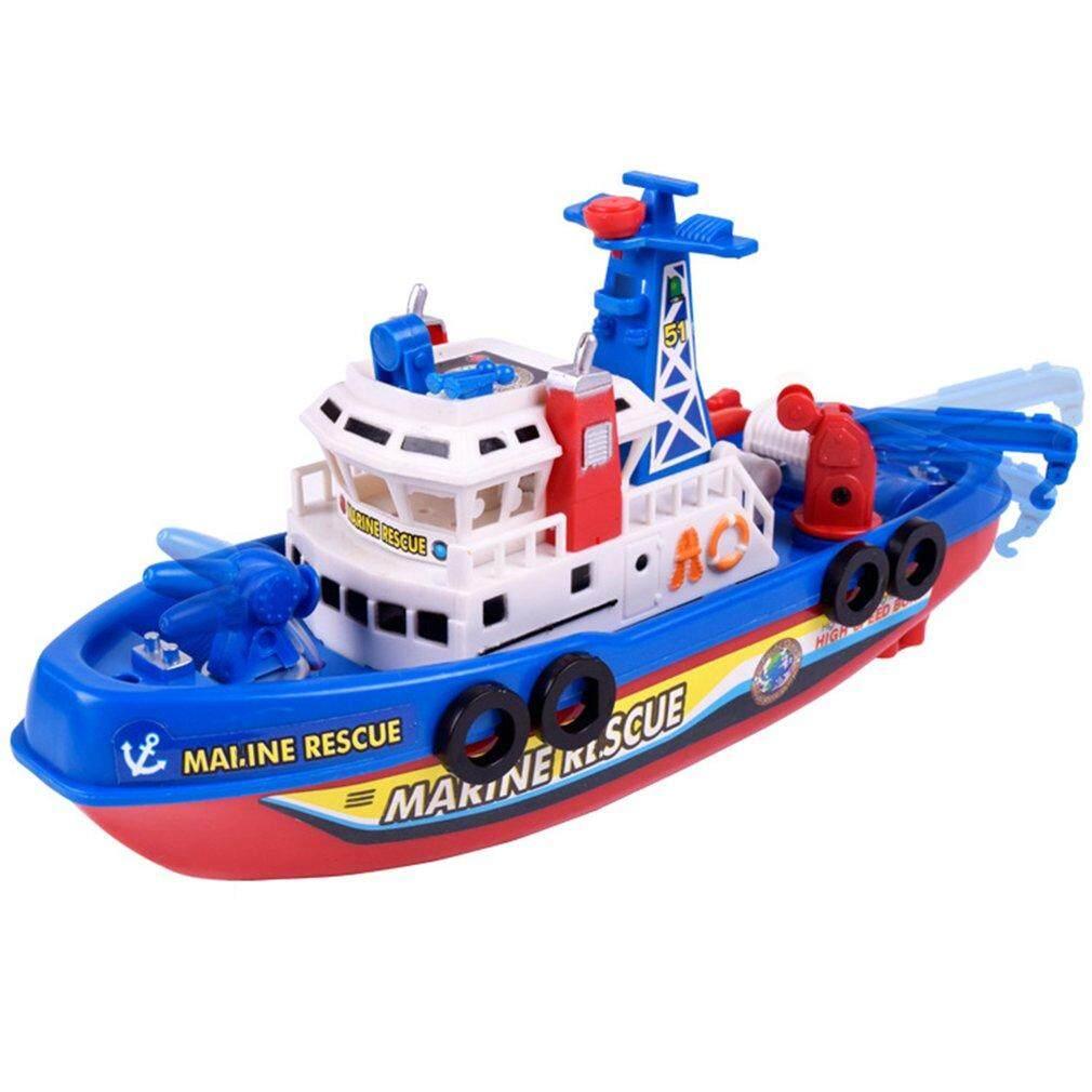 Penjual Terbaik Kreatif Anak Listrik Kapal Api Mainan Musik Bersinar Semprotan Air Mainan Model