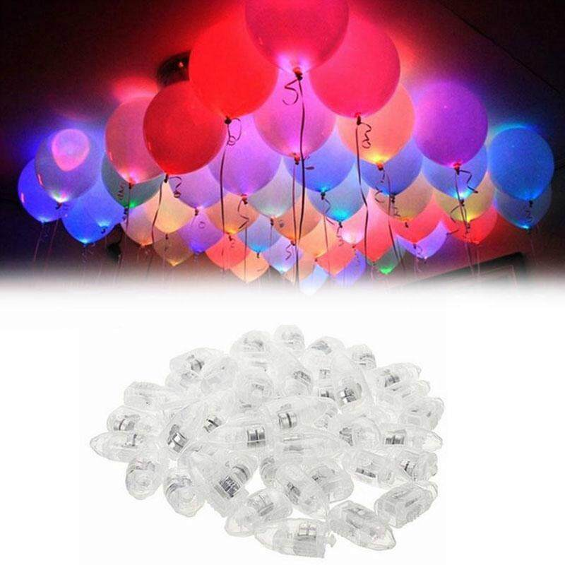 DHN 50 Pcs Balon LED Berwarna-warni Lampu LED Lebih Tinggi Balon Berkilau untuk Pesta
