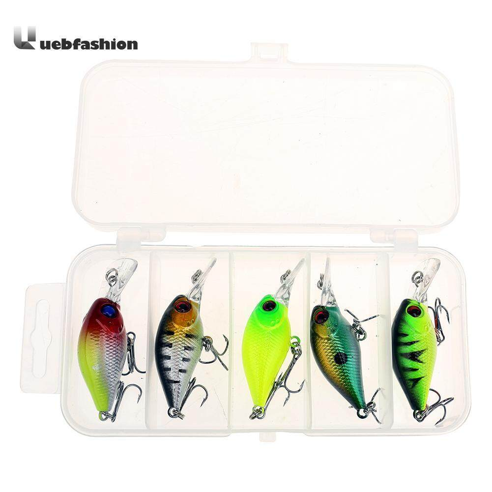[hotuebfashion 5pcs Fishing Lure Artificial Lifelike Crankbait Lure Spinner Minnow Popper Fishing Baits Pesca Jia In With Fishing Tackle Box By Uebfashion.