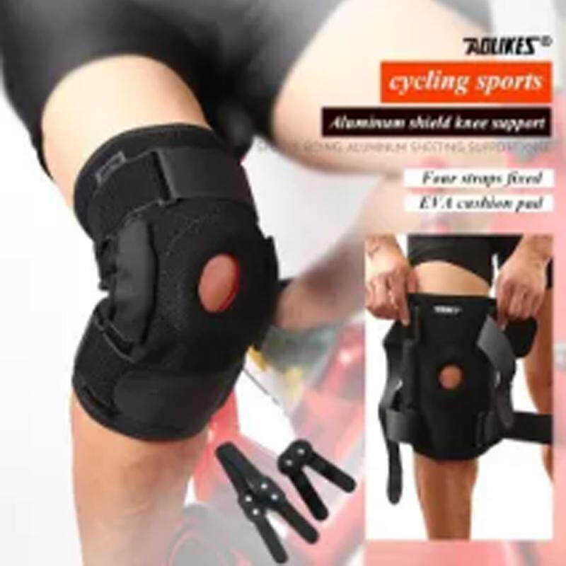 c50f959edc AOLIKES 1Pcs Knee Brace with Polycentric Hinges Professional Knee Pad Guard  Breathable Outdoor Climbing Cycling Knee