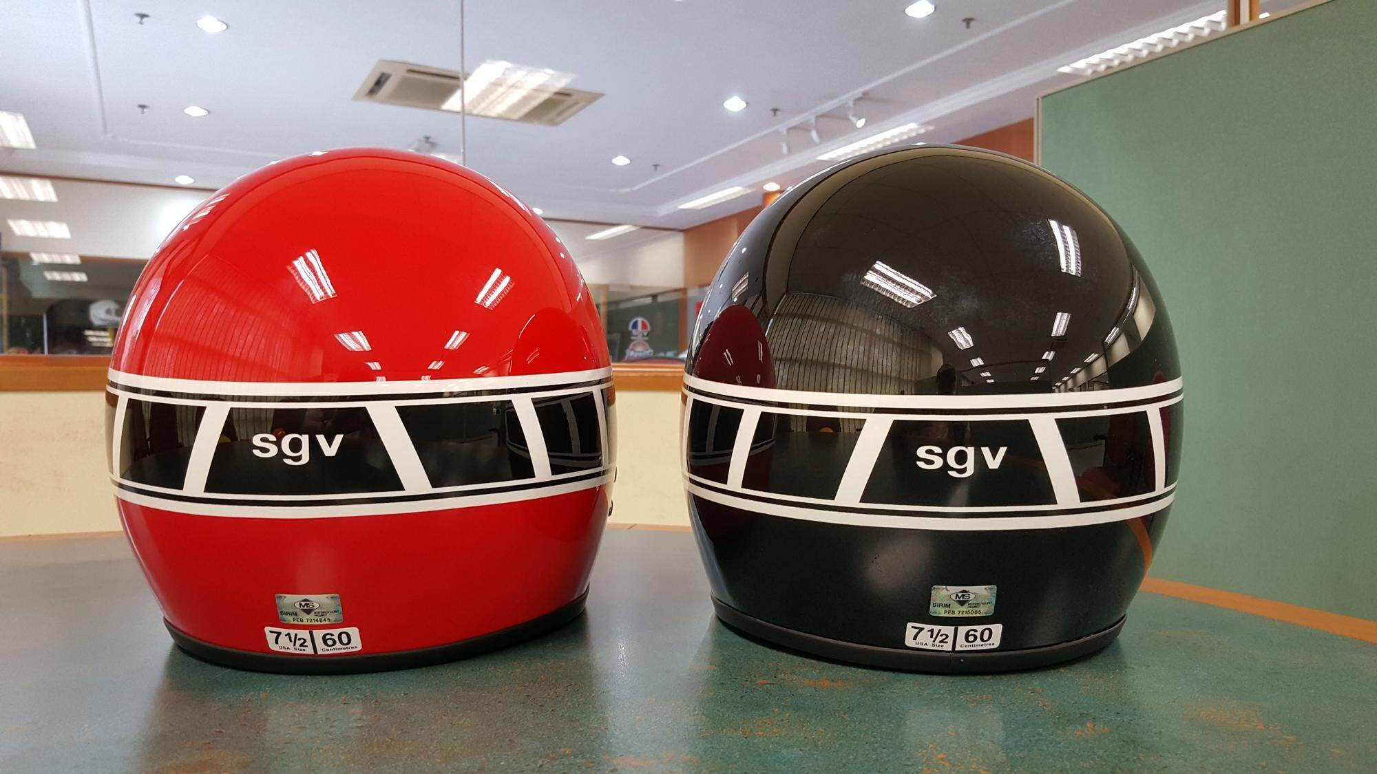 Motorcycle Helmet Racing Stripes Ash Cycles