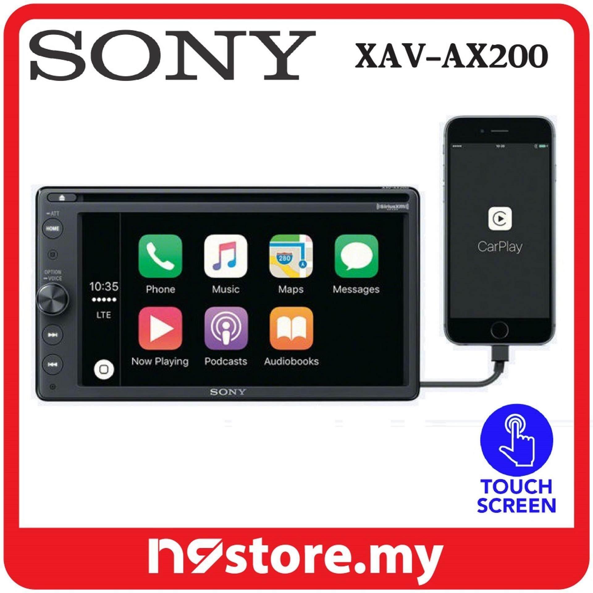 """Sony XAV-AX200 6.4"""" Double DIN Apple CarPlay Android Auto DVD Audio Video Radio"""