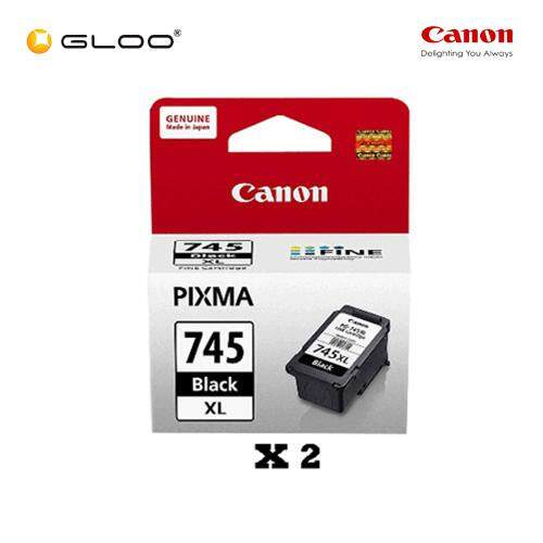 [Set of 2] Canon PG-745XL Ink Cartridge - Black