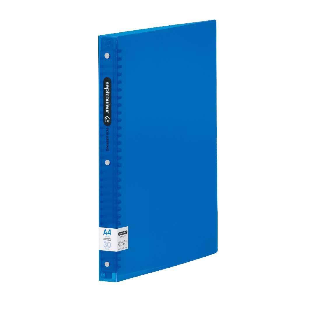 SEPT COULEUR A4, 30 Holes, 90 Sheets, 30 Spine Width - Blue