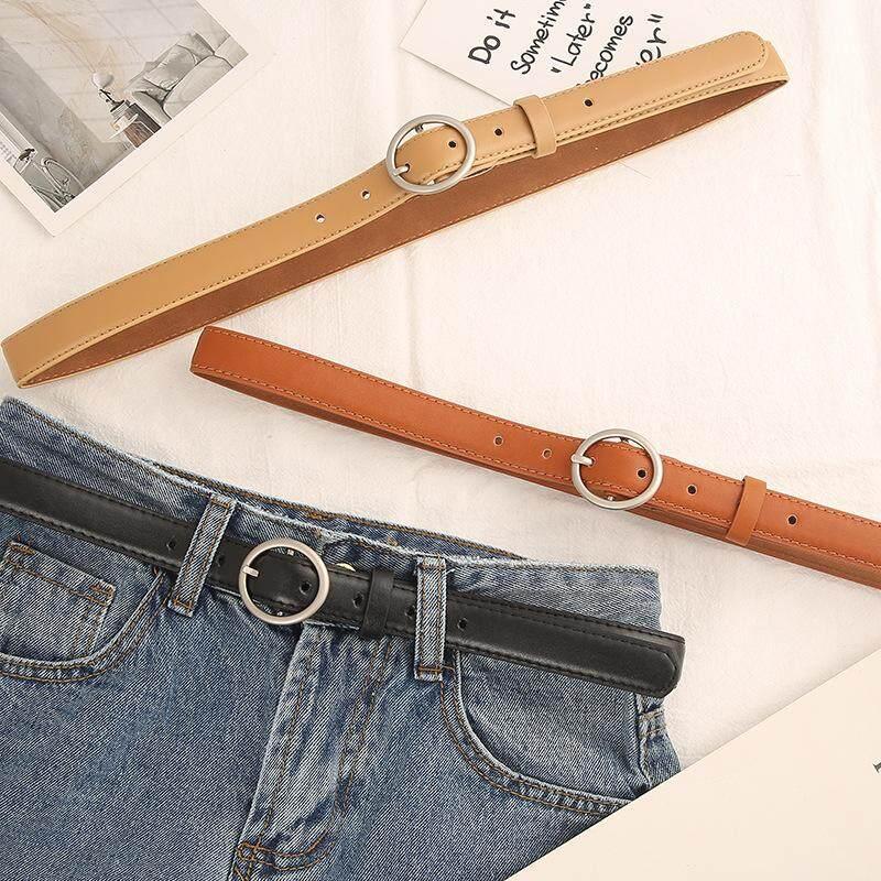 91908fcf3 China. Round buckle belt ladies PU Korea retro simple wild student jeans  belt trend decorative wholesale -