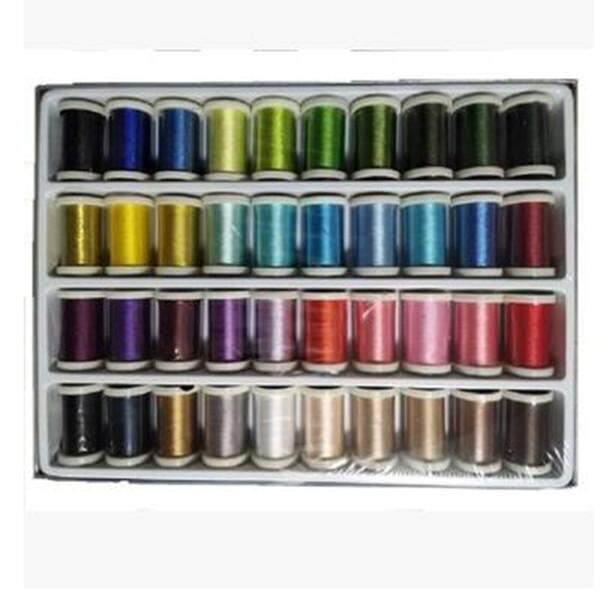 40 Spools Sewing Overlock Embroidery Thread Knitting For Brother Machine - Intl By Audew.