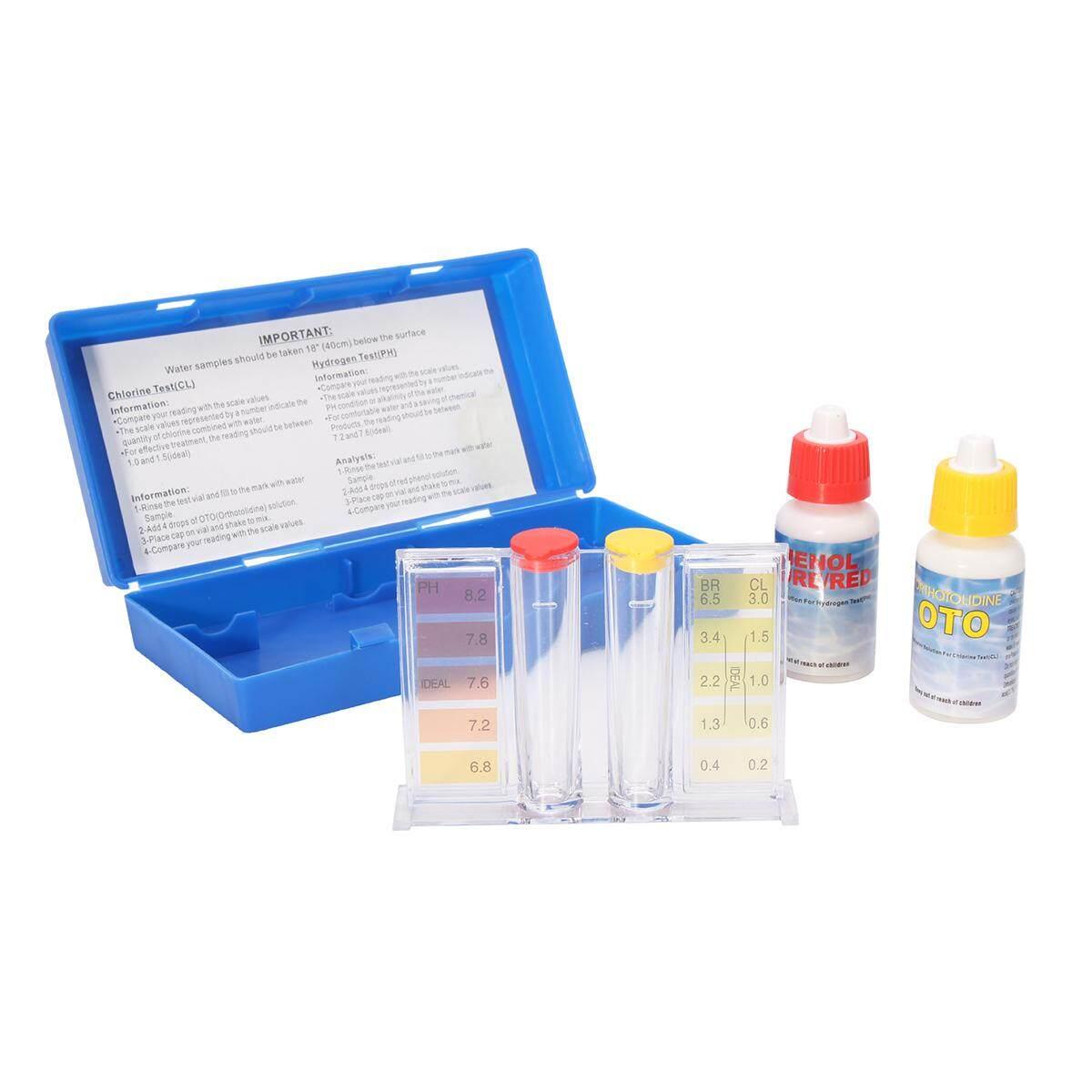 Di động độ pH, Clo Bể Bơi Máy Kiểm Tra Chất Lượng Nước Hydrotool Thử Nghiệm Bộ