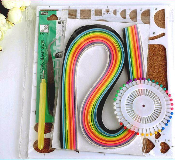 1 Set Quilling Tool Origami Template Paper Pen Mould Tweezer Needles Card Diy By Moonbeam.