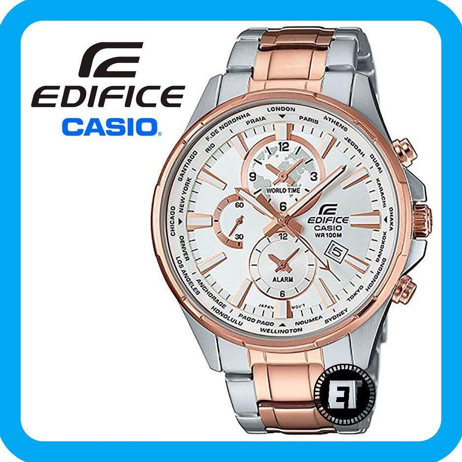 Casio Edifice Watches Price In Malaysia Best Eqb 500dc 1adr Jam Tangan Pria Stainless Steel Black 2 Years Warranty Original Efr 304sg 7av Multi Hand