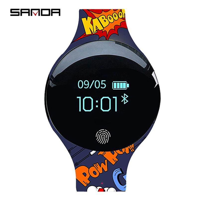 Anak Jam Tangan Sanda Jam Tangan Anak-anak Bluetooth Sport Smart Watch Pedometer Kalori Pengingat Gelang Kebugaran untuk IOS Android