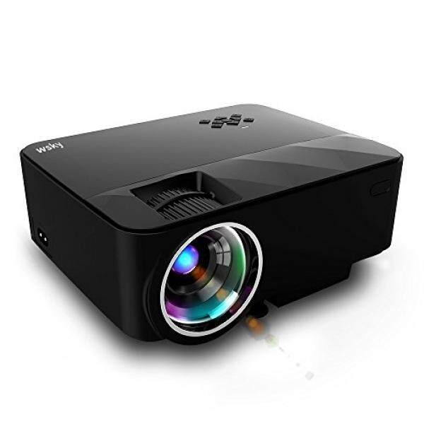 Wsky T21 1800 Lumens LCD LED Portable Video Projector, Multimedia Home Theater Projector, Support HD 1080P for Outdoor Movie Night, iPhone, DVD Player, TV Box and HD Games with Free HDMI Cable! - intl