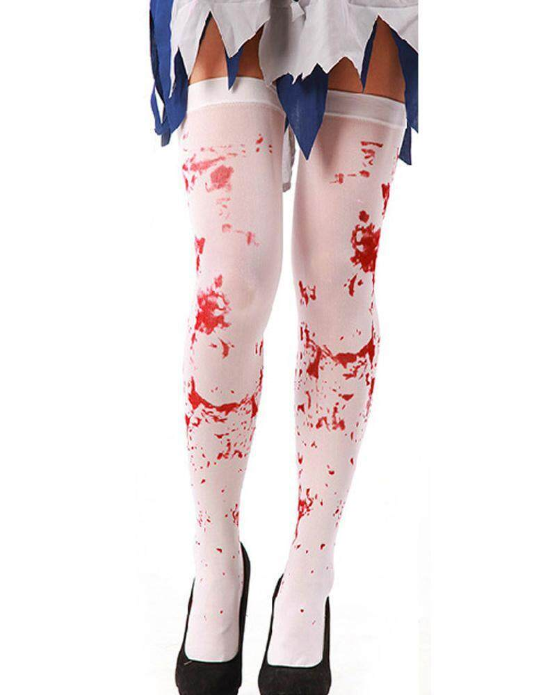 yuwen Blood Thigt Stockings For Halloween Party