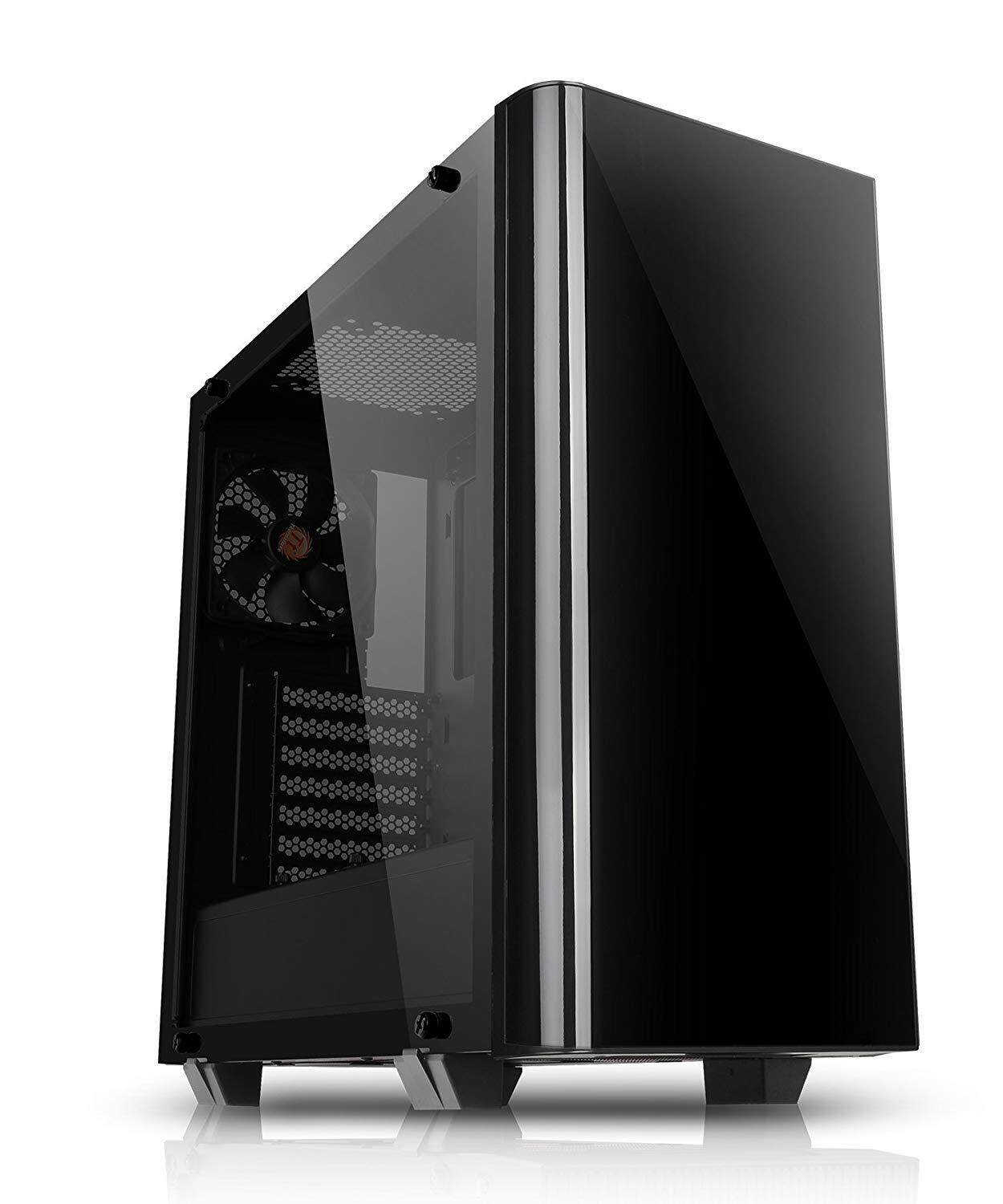 Thermaltake View 21 Black Dual Tempered Glass ATX Mid Tower Gaming PC Computer Case (2x Tempered Glass, 1x 12cm Pre-installed Fan) Malaysia