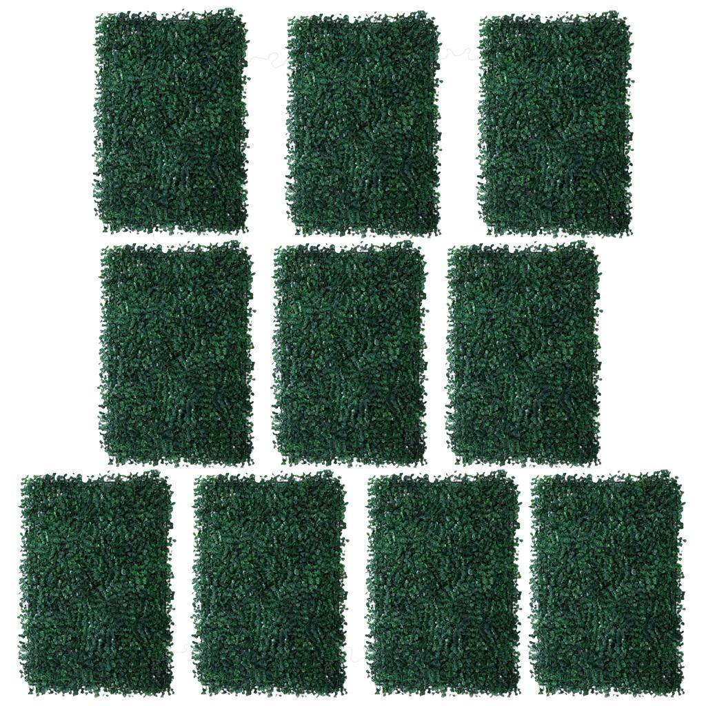 GuangquanStrade 10 Pieces Artificial Plant Flower Wall Panels Wedding Venue Background Decor