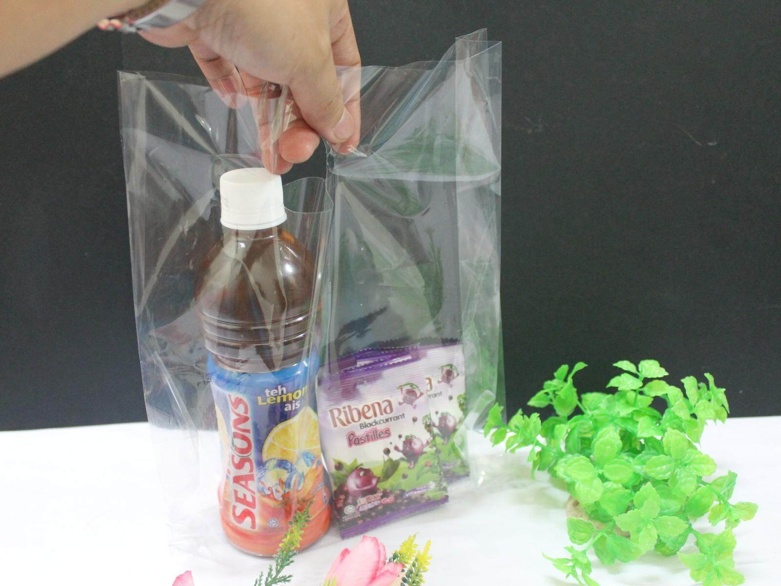 100pcs Transparent Gift Goodies Bag 10 x 17