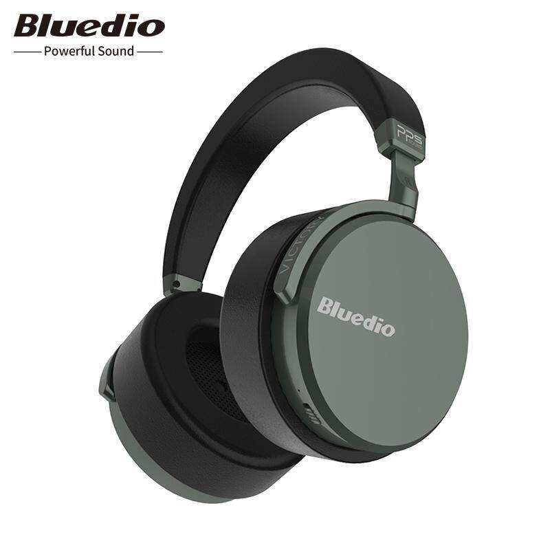 Bluedio V2 Headphone Bluetooth Headset Nirkabel PPS12 Driver dengan Mikrofon High-End Headphone untuk Telepon
