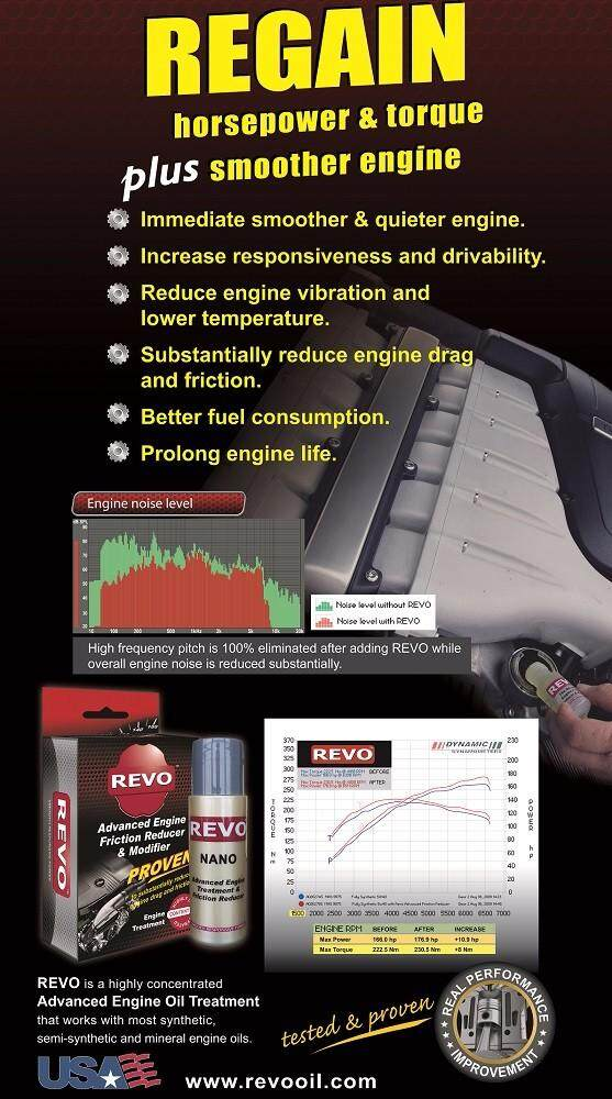NANO Friction Reducer. REVO Advanced Engine Treatment & Friction Reducer