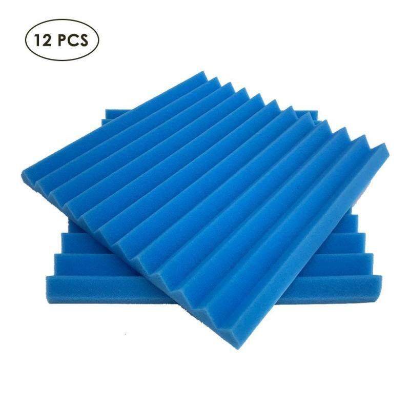 niceEshop 12 Pcs Acoustic Studio Foam Panels - Remove Noise & Enhance Sound Quality (12 Slots) Singapore