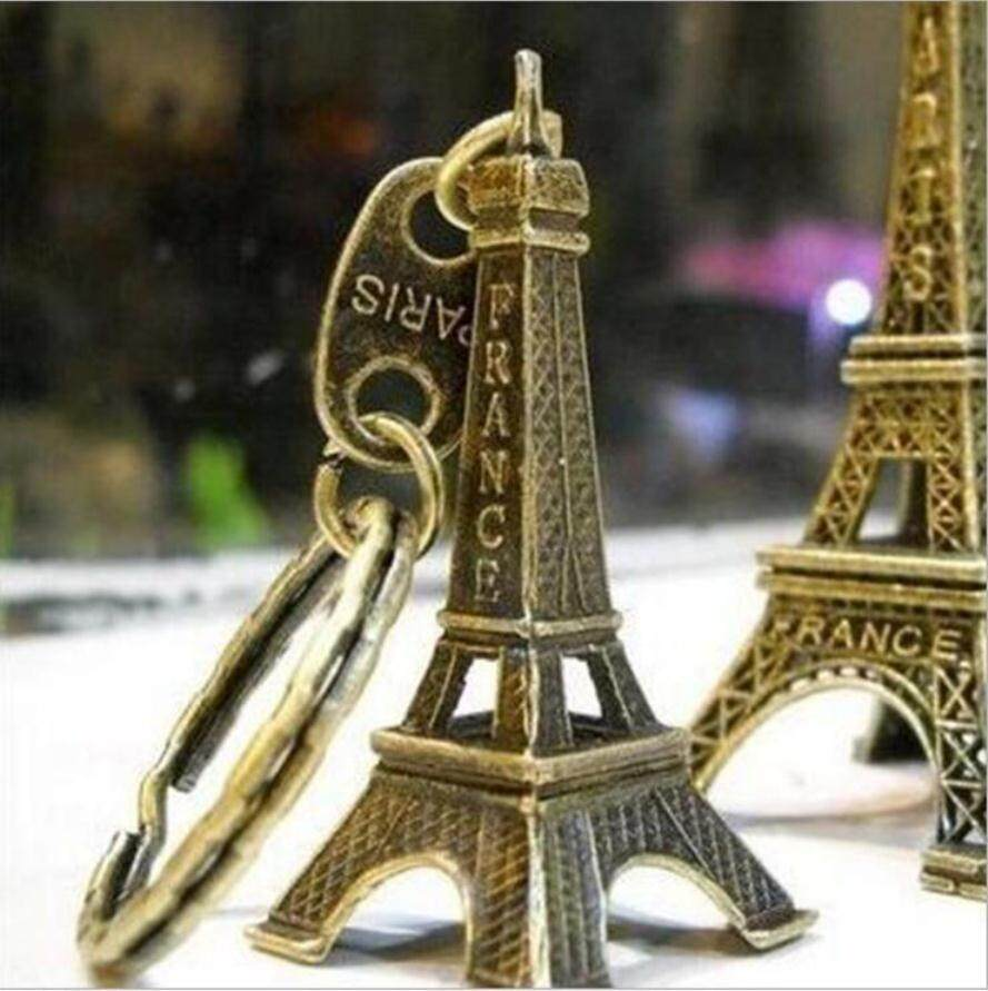 AAMILIFE Exquisite Shop Promotional Gifts Paris Eiffel Little Tower Pendant Eiffel Retro Tower Key Chain - intl