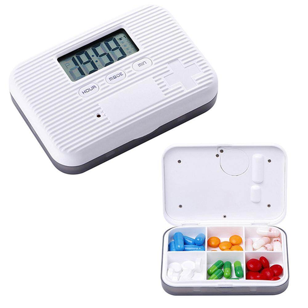 leegoal Automatic Pill Dispenser, Electronic Medication Organizer With Alarm Reminders, Flashing Light And Safety Lock