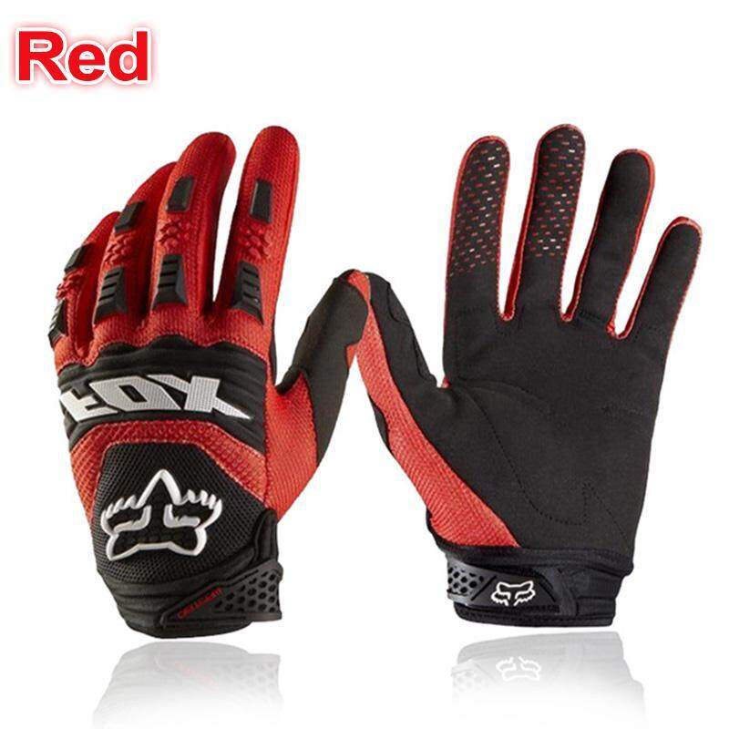 Full Finger Motorcycle Gloves Leather Fabric Wear-resistant Motorbike Guantes Gloves