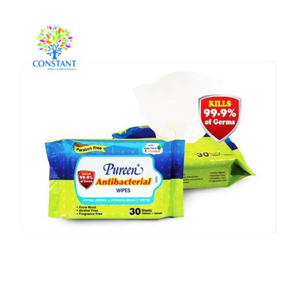 Pureen Antibacterial Wipes 30*2