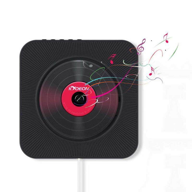 niceEshop Wall CD Player Bluetooth With Remote Control - Built-in FM Radio & Timing Function - CD Player Portable Singapore