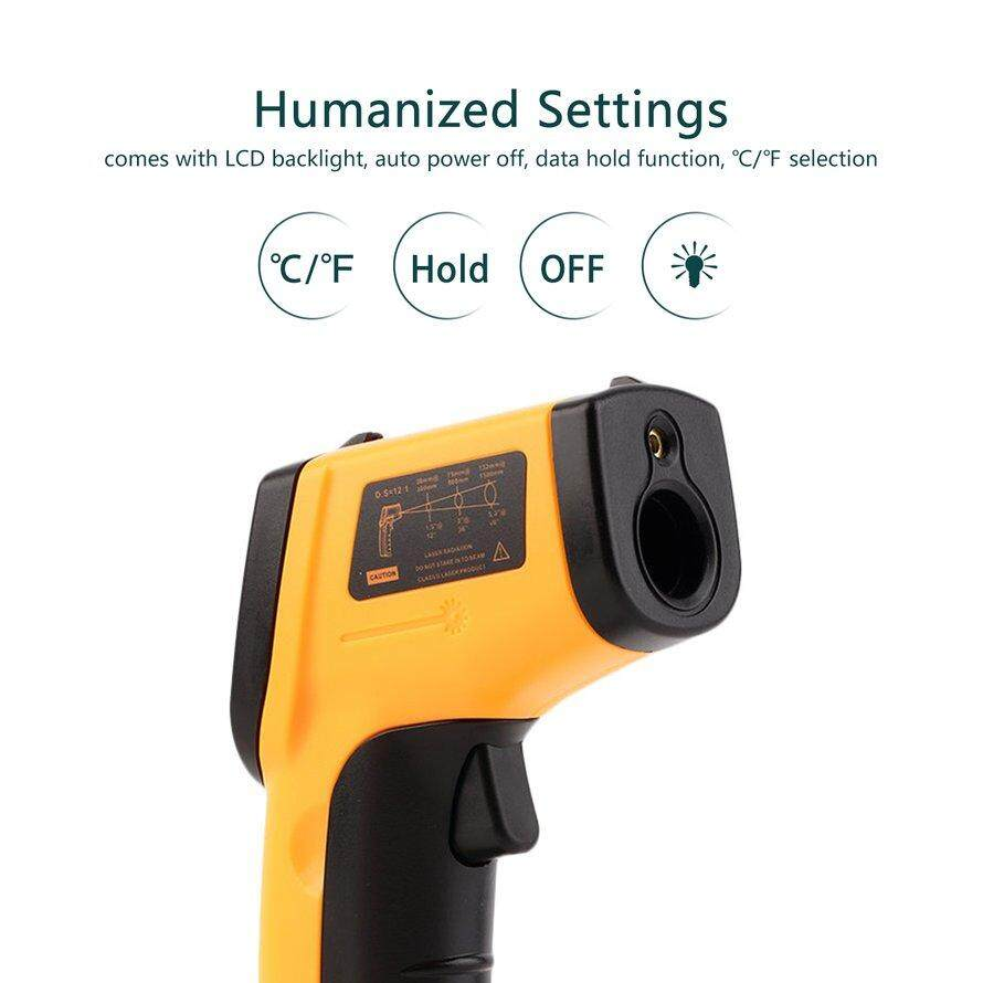 OSMAN Non-kontak Digital LCD Termometer Inframerah G * Un IR Laser Termal Suhu