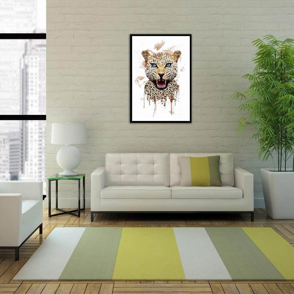 ... Howl Macan Tutul Pola Kanvas Dinding Lukisan Seni Cetak Dekorasi Rumah Kantor (20*30 ...